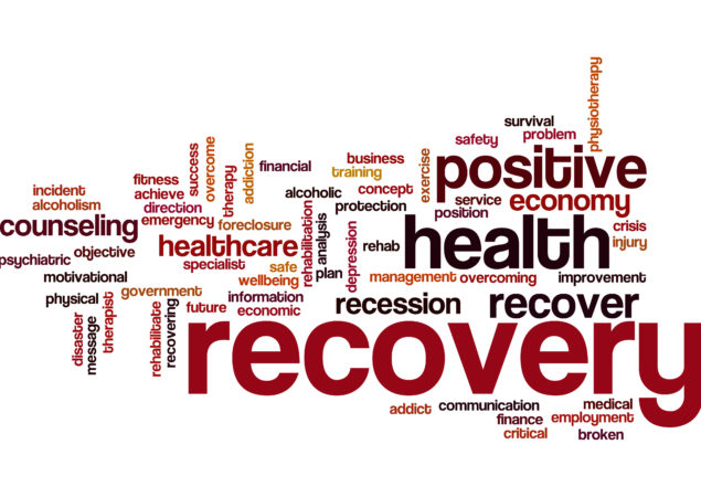 Recovery word cloud