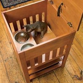 Dog Proof Cat Feeding Station