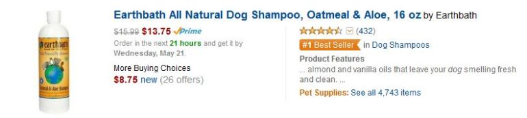Earthbath All Natural Dog Shampoo