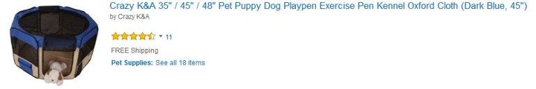 dog playpin