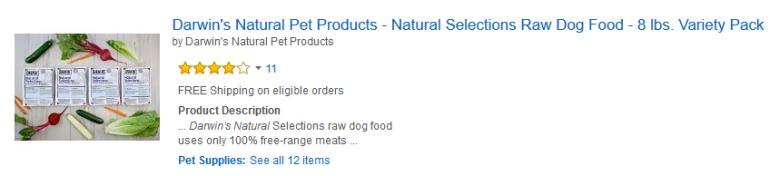 darwin's dog food