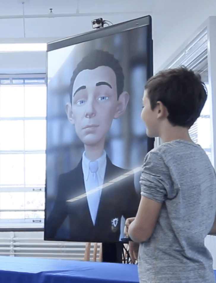 Entertain international guests with interactive Talking Heads