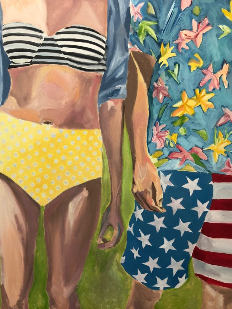 stars and stripes, girl and boy together,