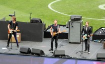 Sting performing at the 2016 AFL Grand Final pre-game entertainment. Photo: Jodie Newell