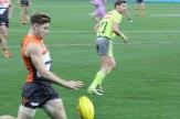 Greene drops the ball onto foot. Photo: Jodie Newell