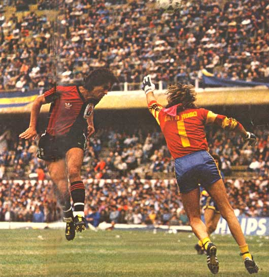 Newell's humiliated Boca Juniors on their home turf in 1987.