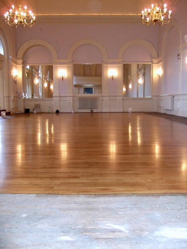 ballroom floor refinished