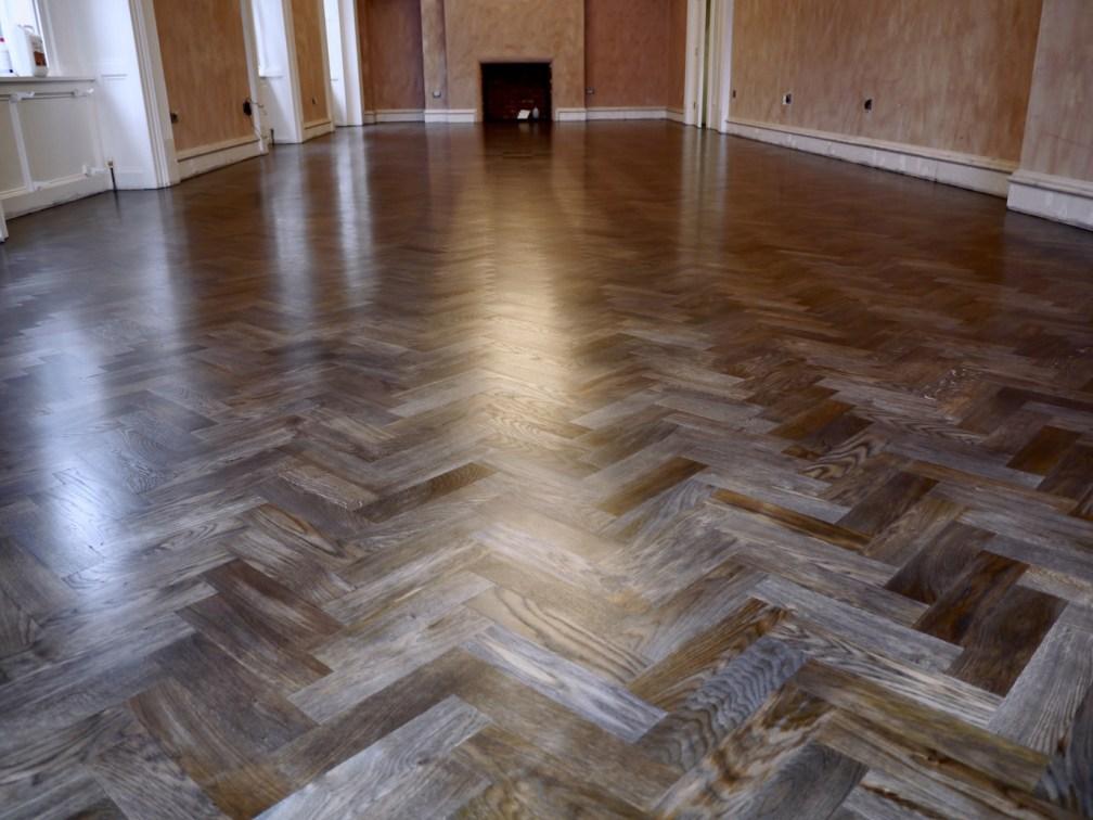 smoked oak hotel floor