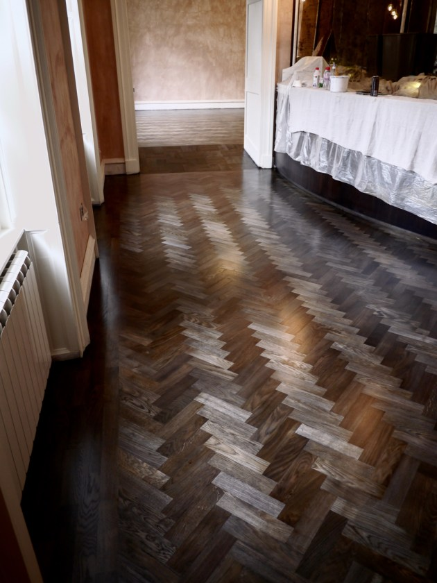 The Angel Hotel The Oak Room Restaurant beautiful bar floor smoked oak colour