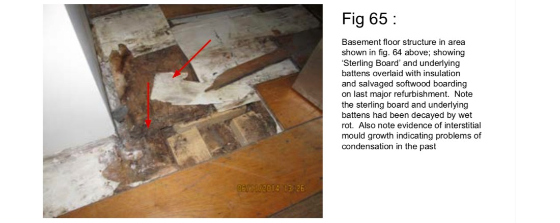 Problems with incorrect sub floor fitting damp in OSB board