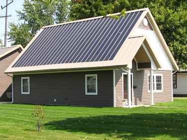 Zero Energy Home with Solar Panels