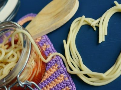 Spaghetti in heart shape. Image is meant to portray marriage retreat in New England and a marriage seminar in New England.