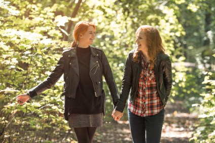Lesbian couple traveling and apparently falling in love again. Learning how to resolve conflicts and rebuild trust help with relationship struggles. Private Hold Me Tight couples therapy retreats in Massachusetts give you these relationship skills.