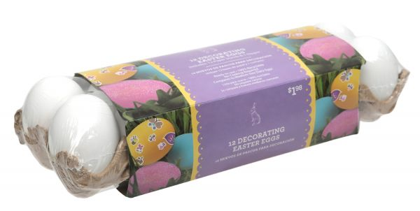 Decorative Easter Eggs - Plastic and no longer need to cook them before decorating.