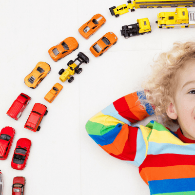 Counting cars is a fun learning game to do in the car whether it's a road trip or a trip to the grocery store. Your kids will love writing down the number of how many of each color car they see along the way!