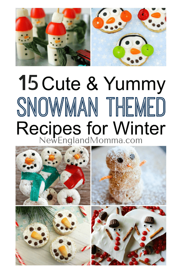 Whether you have snow or not, these 15 awesome snowman are cute & yummy! Great for a winter get together, school bake sale or a fun treat at home! #snowmenrecipes #snowmen #winterrecipes #winterfun