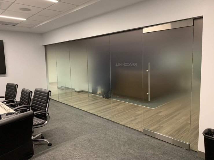 Added Conference Room Privacy for Boston Firm Using Decorative Glass Films - Decorative Window Film in the Boston, Massachusetts area 2
