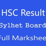Sylhet Board HSC Result 2020 Sylhet Board Marksheet