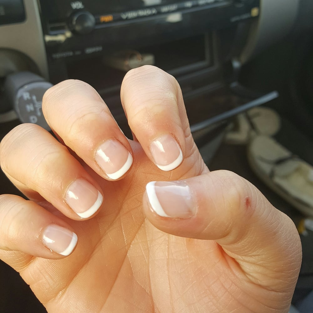 Best Short Gel Nails French Tip New Expression Nails