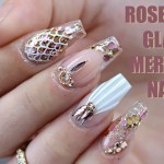 Acrylic Nails Rose Gold Marble Nail And Manicure Trends