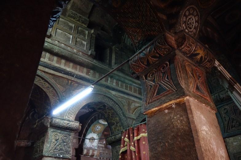 The intricate interior of Bet Maryam.