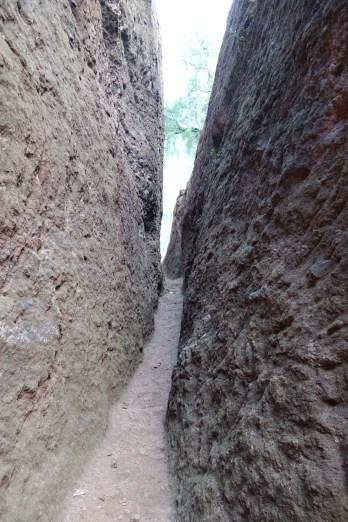 A passageway near Bet Abba Libanos.