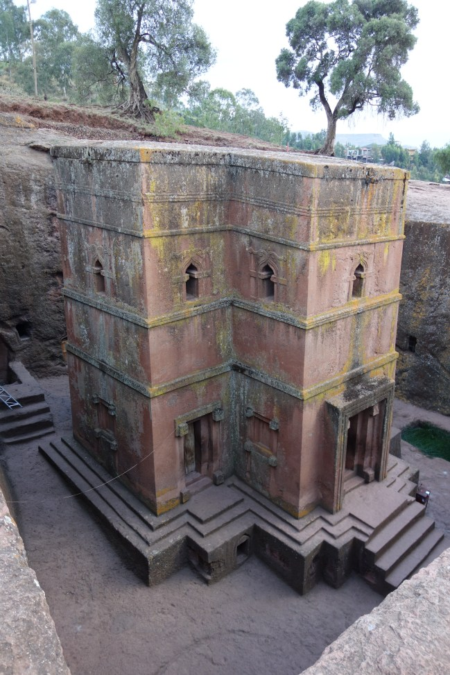 The large proportions make Bet Giyorgis look much smaller than it really is - it's around five storeys high!