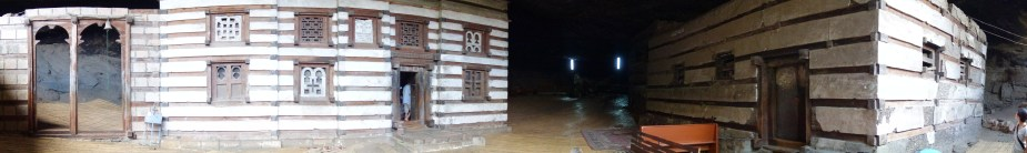 The two buildings of Yemrehanna Kristos.