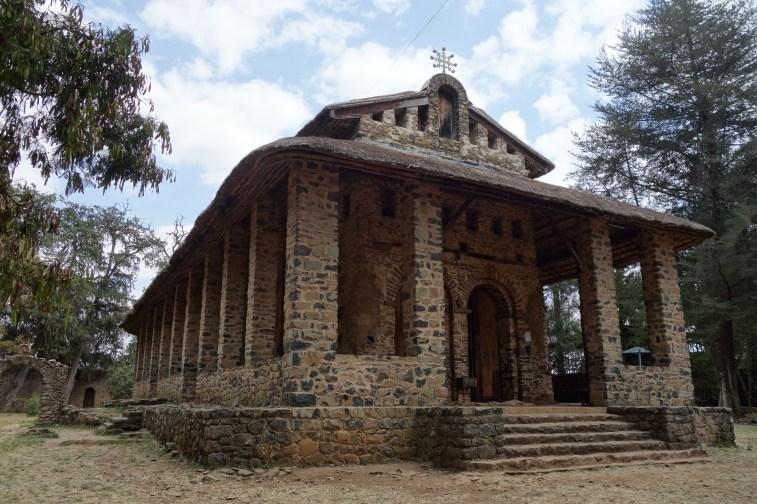 Debre Birhan Selassie's unassuming exterior.