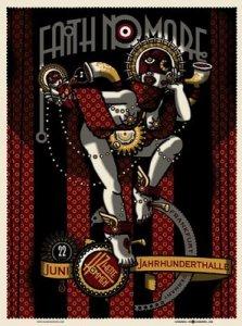 Faith No More Berlin poster ((c) http://www.secretserpentsstore.com )