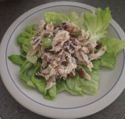 Chicken Salad on Lettuce