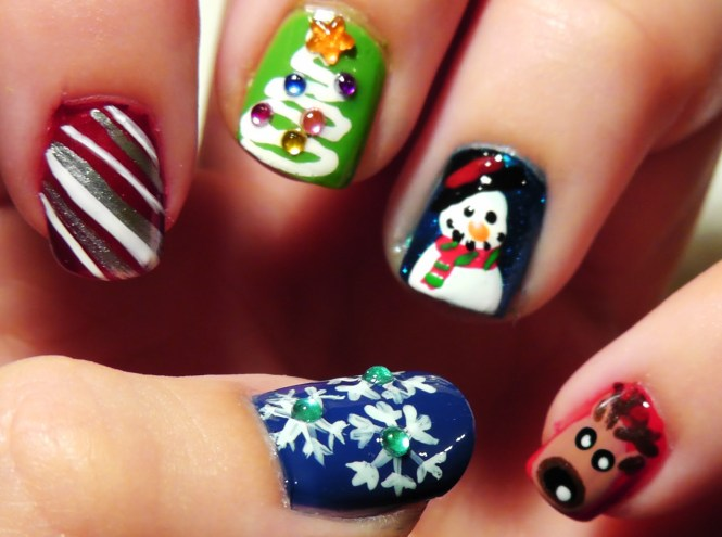 Best Christmas Nail Art Designs At Home Evo