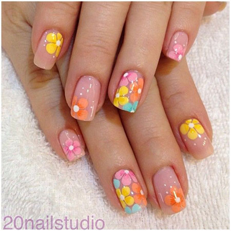 Simple Spring Nail Art Designs Ideas Trends 2016 For Learners Fabulous