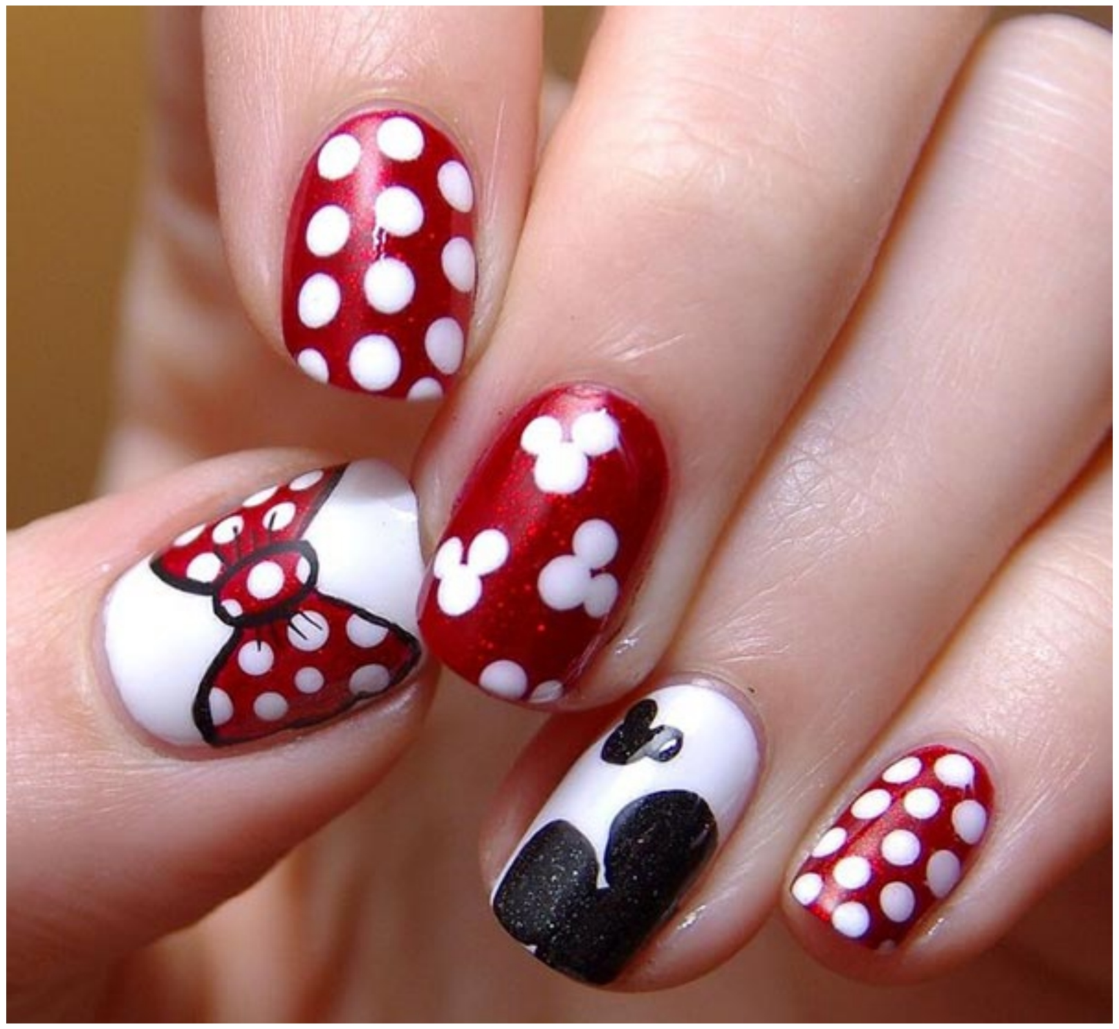 Becca Walton Hearts Flowers Uv Gel Polish Nail Art Design Creepy