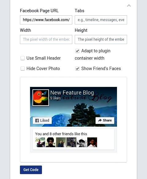 Write facebook page url