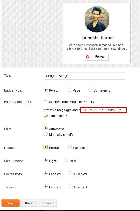 customize google plus page, profile sand community