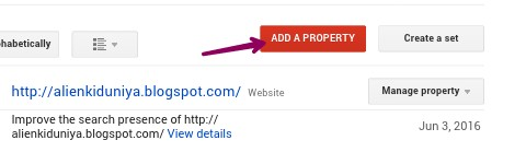 click on add a property
