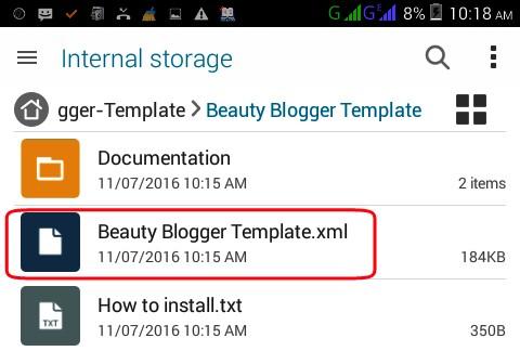 blogger xml file temlate