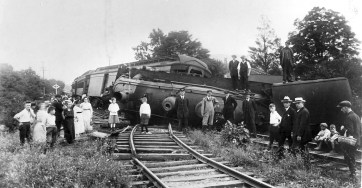 Train wreck at Newfield Depot.
