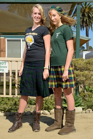 Hollen and Chase MacKinnon, from the Clan MacKinnon Seaside Highland Games Ventura, California, 2012 © Stephen McLaren