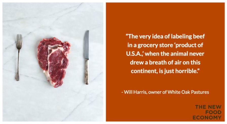 grass-fed, product of usa beef