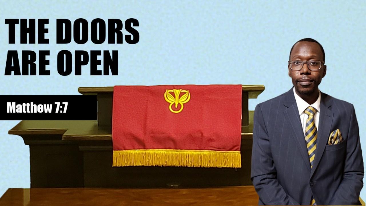 The Doors Are Open Banner