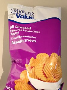 Great Value All Dressed chips