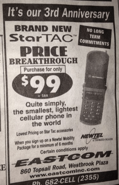 90s Newfoundland cell phone ad