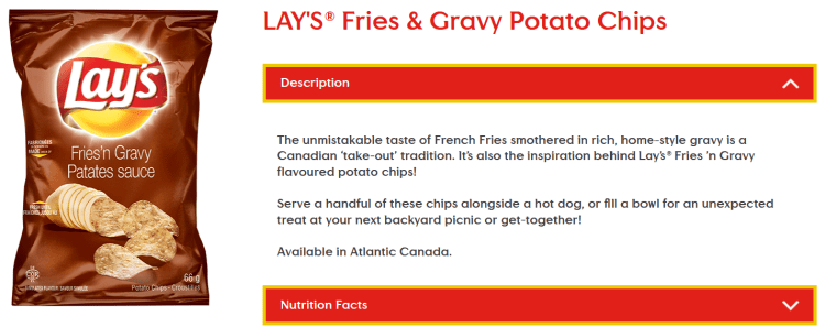 Lay's Fries and Gravy chips