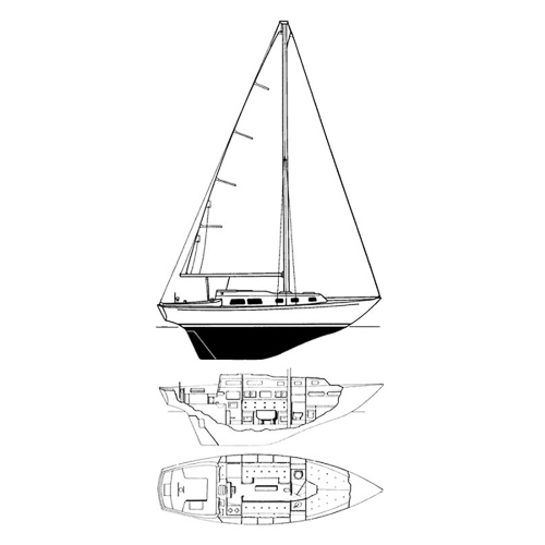 Illustration of an Alberg 29