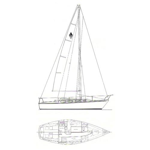 Illustration of a Catalina 30mki
