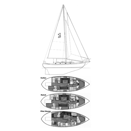 Illustration of a Tayana 37