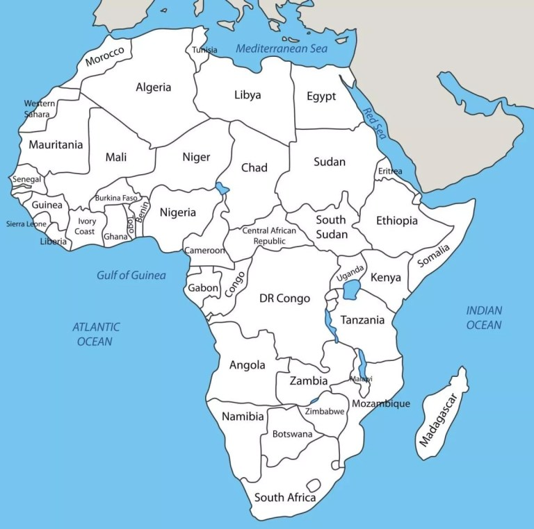 Total Number Of Countries In Africa