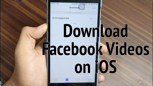 Download Facebook Videos on iPhone